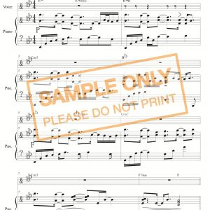 單曲鋼琴譜 - 無可比的愛